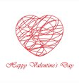 Valentines card with contoured heart vector image