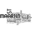 what country is st maarten in text word cloud vector image vector image