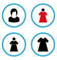 woman rounded icons vector image vector image