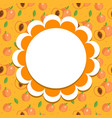 peach label wrapper template for your design vector image