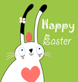 greeting card with bunny for Easter vector image
