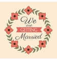 invitation card wedding with flowers design vector image