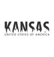 kansas usa united states of america text or vector image