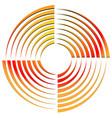 abstract circular shape rotating element