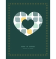 abstract gray yellow rounded squares heart vector image vector image