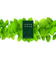 abstract green leaves nature background vector image vector image