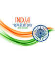 abstract indian republic day flag concept banner vector image vector image