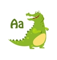 Alligator Funny Alphabet Animal vector image