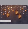arabic shining lamps vector image
