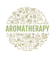 aromatherapy and essential oils brochure template vector image vector image
