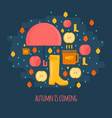 autumn rain composition in flat style vector image vector image