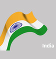 background with indian wavy flag vector image vector image