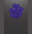 balloons purple for halloween vector image vector image