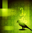 beautiful bird artwork vector image