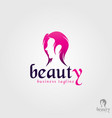 beauty care - ladies salon and spa logo vector image