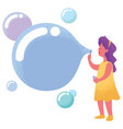 blowing bubbles with copyspace vector image vector image