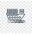 cargo boat concept linear icon isolated on vector image vector image