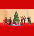 christmas flat gradient background vector image