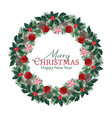 christmas wreath with ornaments vector image vector image