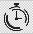 clock timer icon in flat style time alarm on vector image