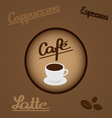 Coffee - design elements and typography vector image vector image