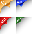 Collection of colorful bent corners sale vector image vector image