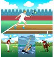 colorful active leisure collection vector image vector image