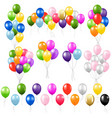 colorful balloon set isolated white background