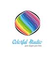 Creative studio logo templates vector image vector image