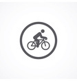 Cyclist icon vector image vector image