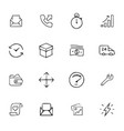 doodle office icons set vector image