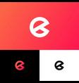 e letter monogram web business card vector image vector image