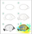 educational page for kids shows how to learn step vector image vector image