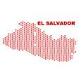 el salvador map - mosaic of valentine hearts vector image vector image