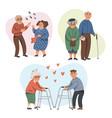 elderly couples leisure in nursing home senior vector image vector image