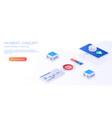 financial analytics digital services vector image