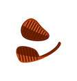 flat meat steak icon vector image