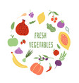 fresh vegetables vegetable logo healthy food shop vector image