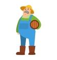 Garden harvest farmer people character vector image vector image