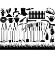 gardening tools vector image vector image