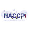 haccp hazard analysis and critical control points vector image vector image