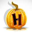 Halloween Pumpkin H vector image vector image