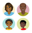 happy african american family avatars vector image vector image