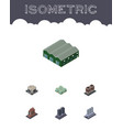 isometric architecture set of industry clinic vector image vector image