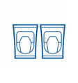 Knee Pads Icon vector image vector image