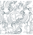 Koi fish seamless pattern vector image