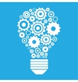 Light bulb and gears vector image vector image
