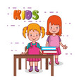 little kids group in classroom avatars characters vector image vector image