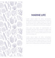 marine life banner template with place for text vector image vector image