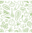 monochrome line art seamless pattern with various vector image